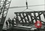 Image of railroad bridge Wesel Germany, 1945, second 6 stock footage video 65675065307