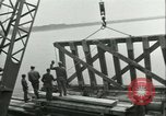 Image of railroad bridge Wesel Germany, 1945, second 7 stock footage video 65675065307