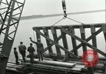 Image of railroad bridge Wesel Germany, 1945, second 8 stock footage video 65675065307
