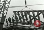 Image of railroad bridge Wesel Germany, 1945, second 9 stock footage video 65675065307