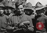Image of AEF soldiers in mess line United States USA, 1917, second 12 stock footage video 65675065358