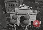 Image of Aerial views of World War I victory parade New York City USA, 1919, second 2 stock footage video 65675065368