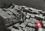 Image of shipment of food Athens Greece, 1948, second 5 stock footage video 65675065375