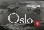 Image of aerial view Oslo Norway, 1946, second 4 stock footage video 65675065377