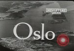Image of aerial view Oslo Norway, 1946, second 5 stock footage video 65675065377