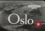 Image of aerial view Oslo Norway, 1946, second 6 stock footage video 65675065377