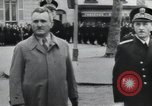 Image of Flag hosting ceremony Paris France, 1945, second 1 stock footage video 65675065406