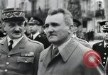Image of Flag hosting ceremony Paris France, 1945, second 11 stock footage video 65675065406