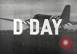 Image of D-day in the Normandy invasion of World War II Normandy France, 1944, second 4 stock footage video 65675065481