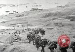 Image of American troop reinforcements and war materiel landing on beachhead Normandy France, 1944, second 3 stock footage video 65675065484