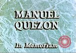 Image of Manuel Luis Quezon United States USA, 1944, second 3 stock footage video 65675065487