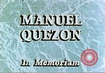 Image of Manuel Luis Quezon United States USA, 1944, second 4 stock footage video 65675065487