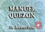 Image of Manuel Luis Quezon United States USA, 1944, second 5 stock footage video 65675065487