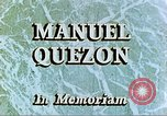 Image of Manuel Luis Quezon United States USA, 1944, second 6 stock footage video 65675065487