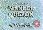 Image of Manuel Luis Quezon United States USA, 1944, second 7 stock footage video 65675065487
