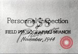 Image of Field Photographic Branch United States USA, 1944, second 7 stock footage video 65675065505