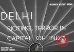 Image of riots Delhi India, 1948, second 3 stock footage video 65675065526