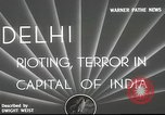 Image of riots Delhi India, 1948, second 5 stock footage video 65675065526