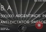 Image of Argentineans Argentina, 1938, second 2 stock footage video 65675065529