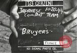 Image of Japanese-American soldiers moving into combat positions Bruyeres France, 1944, second 1 stock footage video 65675065592