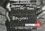 Image of Japanese-American soldiers moving into combat positions Bruyeres France, 1944, second 2 stock footage video 65675065592