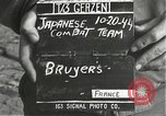 Image of Japanese-American soldiers moving into combat positions Bruyeres France, 1944, second 3 stock footage video 65675065592