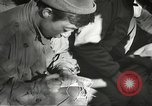 Image of Wounded of the 442nd Regimental Combat Team being treated Belmont France, 1944, second 9 stock footage video 65675065595