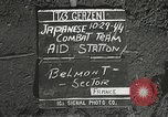 Image of Forward Aid station of 442nd Regimental Combat Team Belmont France, 1944, second 4 stock footage video 65675065597