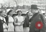 Image of Winston Churchill Bristol England, 1941, second 6 stock footage video 65675065767