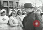 Image of Winston Churchill Bristol England, 1941, second 8 stock footage video 65675065767