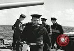 Image of Royal Canadian Navy anti-aircraft destroyer Atlantic Ocean, 1941, second 2 stock footage video 65675065769