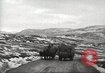 Image of convoy of trucks Crimea Ukraine, 1945, second 4 stock footage video 65675065823
