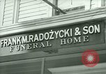 Image of Shops in Polish neighborhood of Bridgeport Connecticut Bridgeport Connecticut USA, 1941, second 7 stock footage video 65675065920
