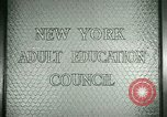 Image of New York Adult Education Council New York United States USA, 1941, second 2 stock footage video 65675065922