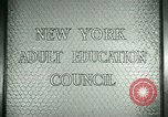 Image of New York Adult Education Council New York United States USA, 1941, second 3 stock footage video 65675065922