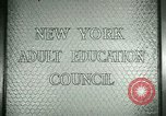 Image of New York Adult Education Council New York United States USA, 1941, second 4 stock footage video 65675065922