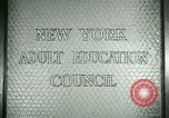 Image of New York Adult Education Council New York United States USA, 1941, second 5 stock footage video 65675065922