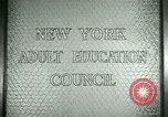 Image of New York Adult Education Council New York United States USA, 1941, second 7 stock footage video 65675065922