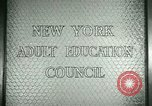 Image of New York Adult Education Council New York United States USA, 1941, second 8 stock footage video 65675065922