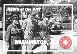 Image of Soviet Russian sniper Lyudmila Pavlichenko Washington DC USA, 1942, second 2 stock footage video 65675065997