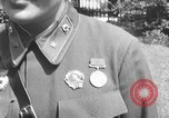 Image of Soviet Russian sniper Lyudmila Pavlichenko Washington DC USA, 1942, second 12 stock footage video 65675065997