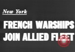 Image of French sailors New York United States USA, 1943, second 4 stock footage video 65675066015