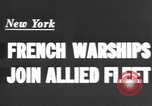 Image of French sailors New York United States USA, 1943, second 5 stock footage video 65675066015