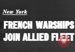Image of French sailors New York United States USA, 1943, second 6 stock footage video 65675066015