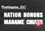 Image of Madame Chang Kai Shek Washington DC, 1943, second 1 stock footage video 65675066016