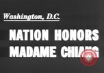 Image of Madame Chang Kai Shek Washington DC, 1943, second 3 stock footage video 65675066016