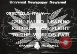 Image of Italo Balbo Orbetello Italy, 1933, second 2 stock footage video 65675066021