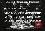 Image of marble championship won by Aaron Butash Ocean City New Jersey USA, 1933, second 1 stock footage video 65675066022