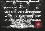 Image of marble championship won by Aaron Butash Ocean City New Jersey USA, 1933, second 3 stock footage video 65675066022