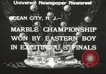 Image of marble championship won by Aaron Butash Ocean City New Jersey USA, 1933, second 4 stock footage video 65675066022